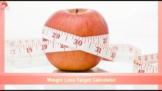 Weight Loss Target Calculator | Weight Loss Target