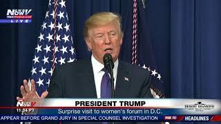 PRESIDENT TRUMP: Surprises women at forum in Washington D.C. (FNN)