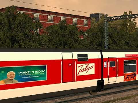 Msts Indian Railways High Speed Talgo Train Goes Under Speed and Braking Test