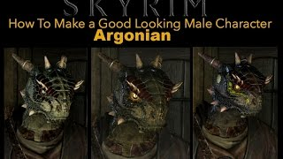 Skyrim Special Edition - How To Make a Good Looking Character - Argonian Male - No Mods