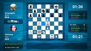 Chess Game Analysis: Chrsnhz - Arcangelo : 1-0 (By ChessFriends.com)