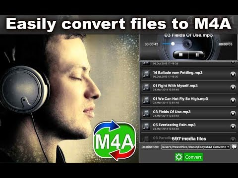 Easy M4A Converter App how to easily encode all audio files to M4A format on Mac OS X