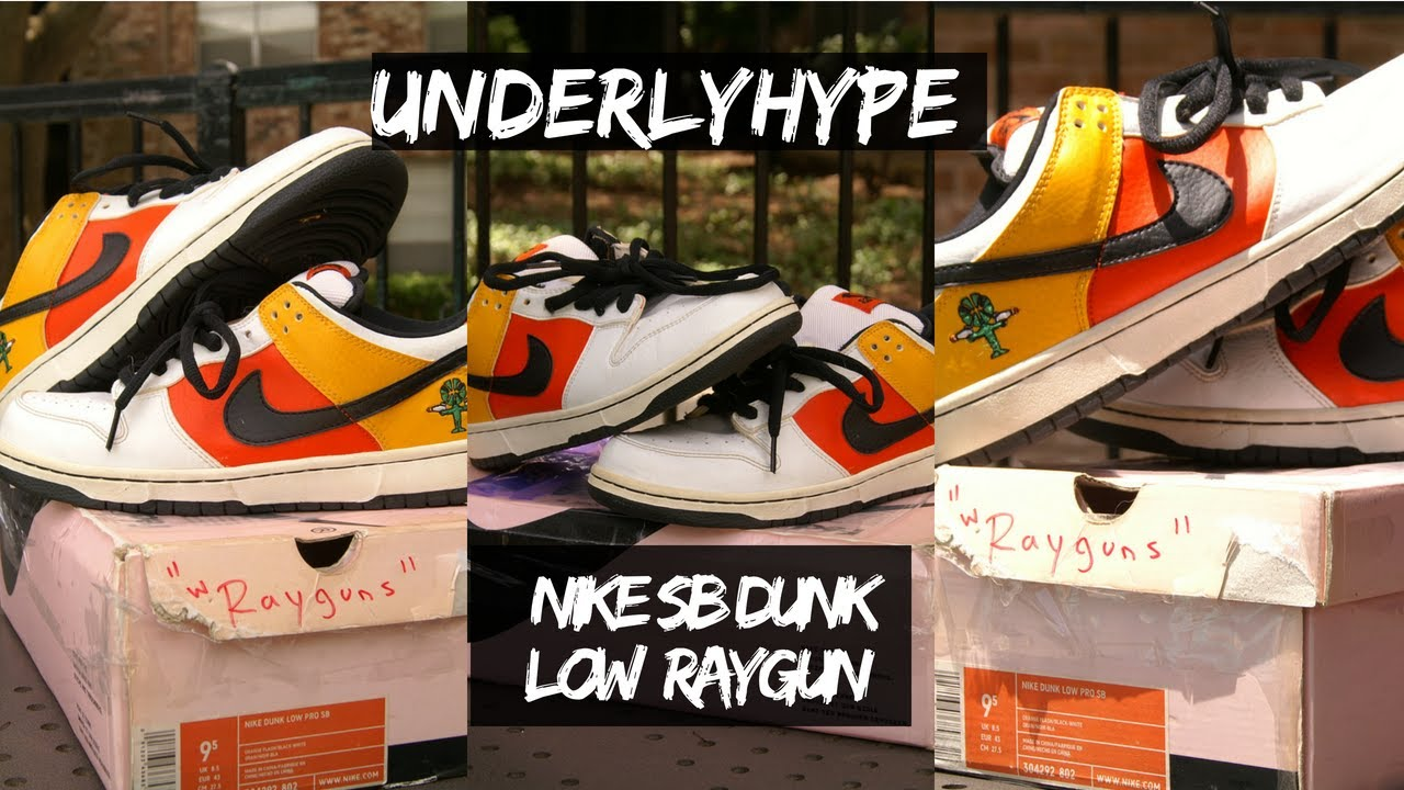 watch 60945 43656 Underlyhype Unboxing Nike SB Dunk Low RAYGUN 2018