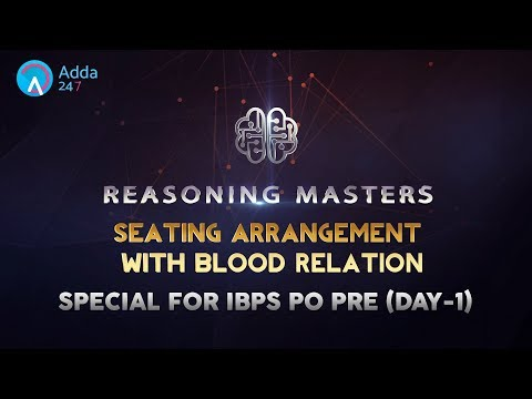 IBPS PO PRE 2017 | Seating Arrangement With Blood Relation | Reasoning