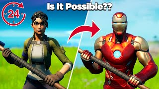 Is It Possible to Unlock Iron Man in 24 Hours Without Buying Any Tiers?? - Fortnite Experiments
