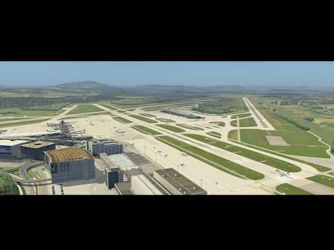 Zurich Real Operating Hours 2018 - VATSIM - Time-lapse