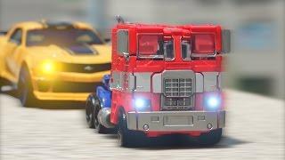 Transformers Optimus Prime Bumblebee StopMotion  Car Toys 트랜스포머 범블비 옵티머스프라임 자동차 장난감 스톱모션 변신 동영상