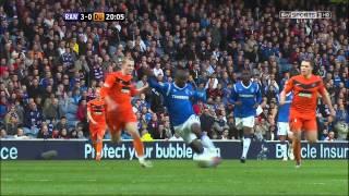 Sone Aluko (2nd Goal) - Rangers Vs Dundee Utd (SPL) 2nd May 2012