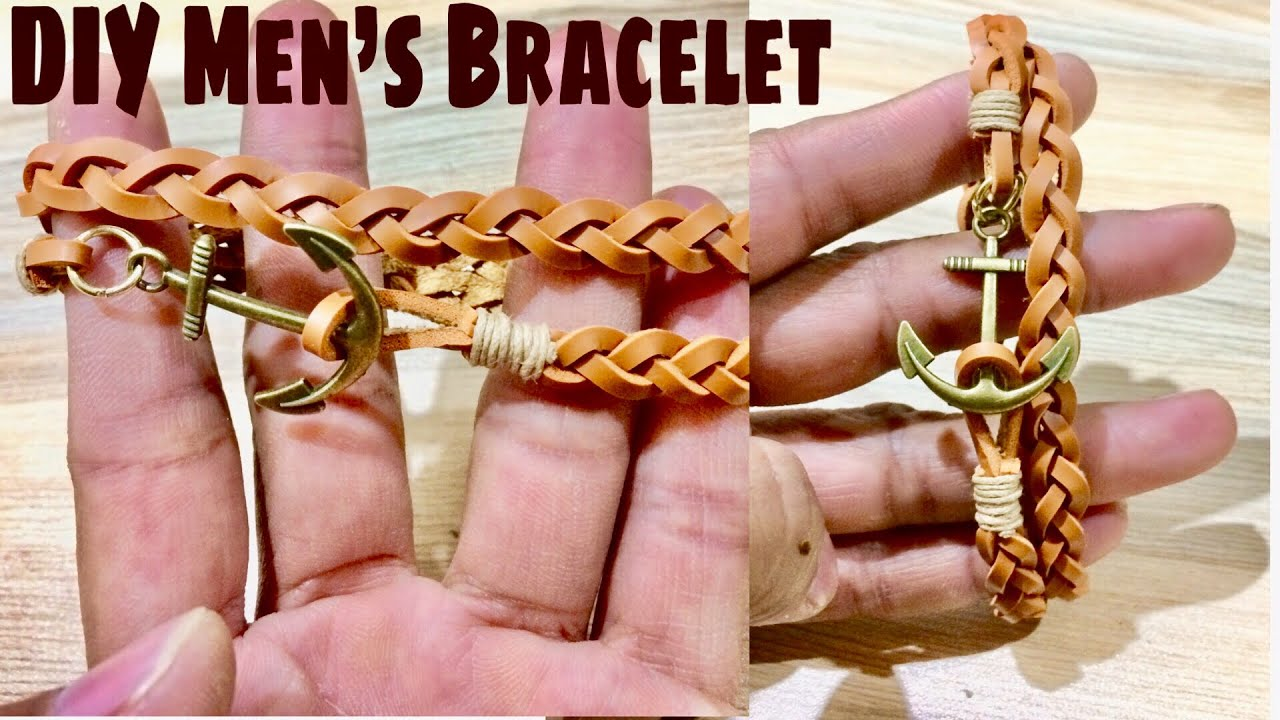 Diy Leather Bracelet How To Make At Home Tutorial