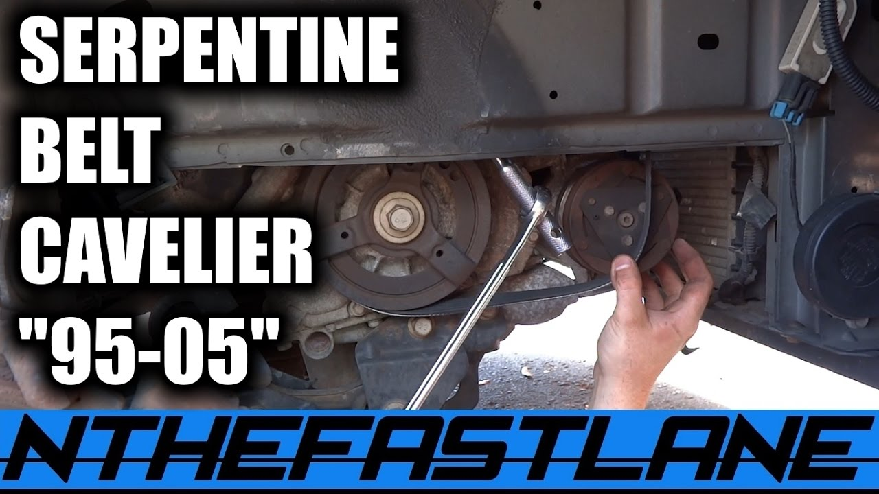 serpentine belt how to replace chevy cavalier ecotec 1995 2005  [ 1280 x 720 Pixel ]