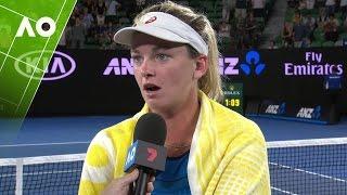 Coco Vandeweghe on court interview (4R) | Australian Open 2017