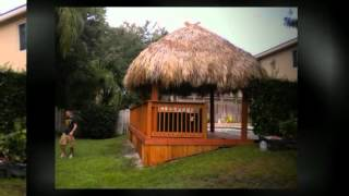 Best Weston Fl Tiki Hut Builder (954) 282-9242 Custom |designs |bar | Palm |umbrella |roof Thatching