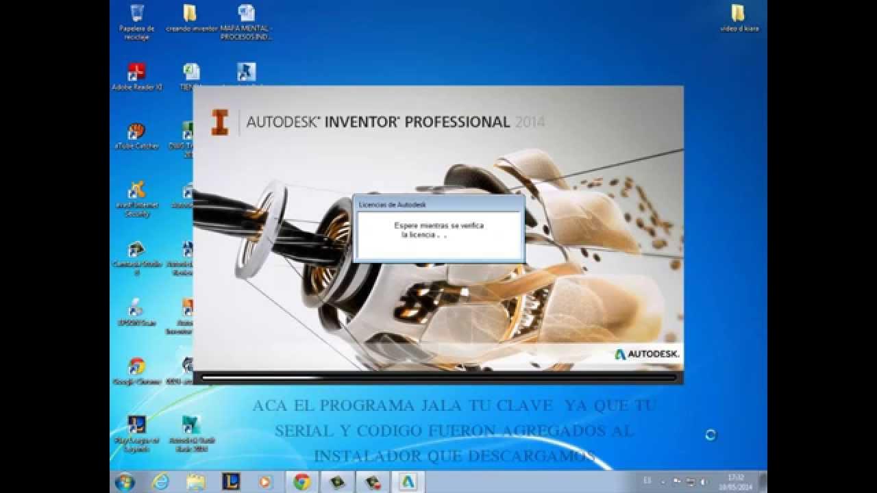 inventor profesional 2014 descargar e instalar con licencia original rh youtube com manual para inventor 2014 manual de autodesk inventor 2014 en español pdf