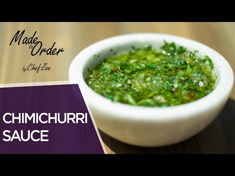 How to Make Chimichurri Sauce | Made To Order | Chef Zee Cooks