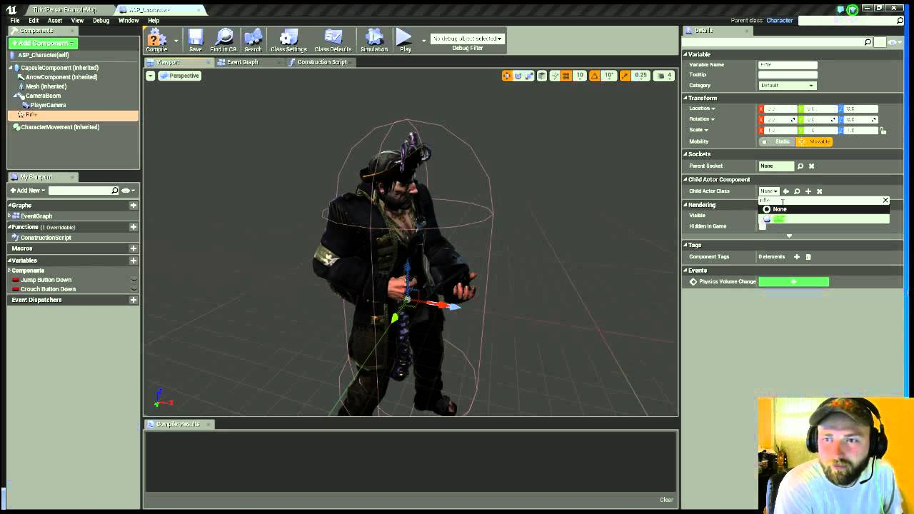 UE4 How To Add Weapon To Character