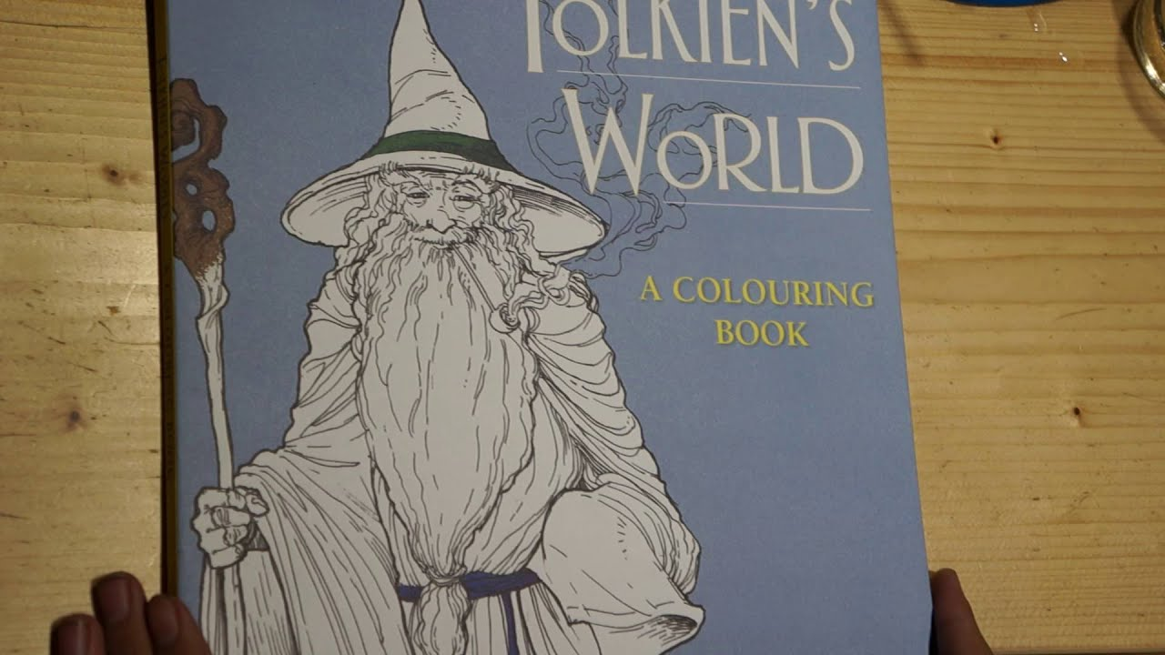 Tolkiens World A Coloring Book Flip
