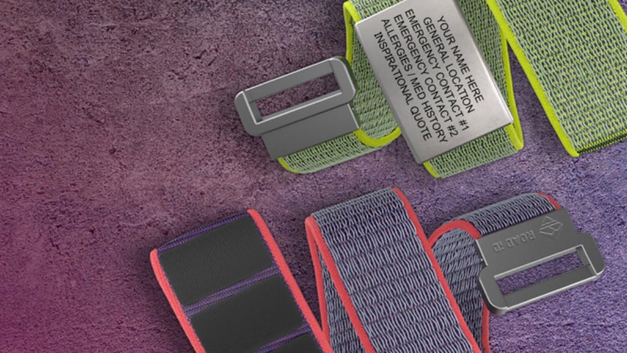 Stylish & Sporty Nylon Loop Identification Bracelet from ROAD iD