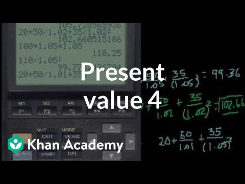 Present Value 4 (and discounted cash flow) | Finance & Capital Markets | Khan Academy