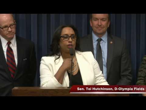 Sens. Harmon, Steans, Manar and Hutchinson criticize Bruce Rauner for budget deal failure