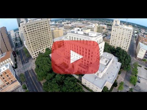 Breathtaking Drone video high above downtown Shreveport