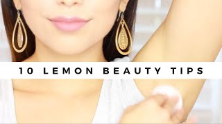 10 LEMON BEAUTY USES