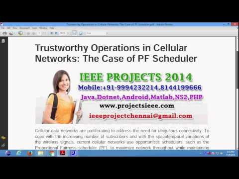 Trustworthy Operations in Cellular Networks The Case of PF Scheduler
