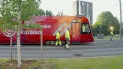 Lajinsa ensimmäisen Tampereen Ratikan koeajot katuverkolla 2.7.2020