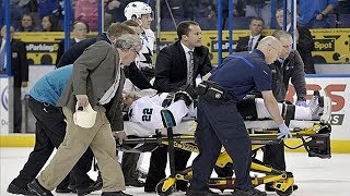 NHL: Players Stretchered Off