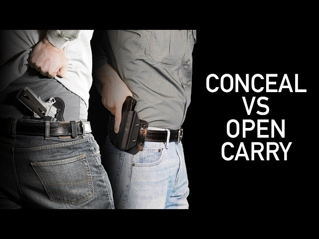 Concealed Carry vs. Open Carry - Gun Tips 2