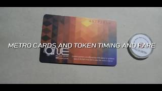Card and tokens fare |Time limit and their charge|Delhi metro fare 2019