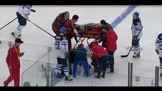 IIHF 2014 Finland-Russia |  Vadim Shipachyov Insane Hit To Pekka Jormakka