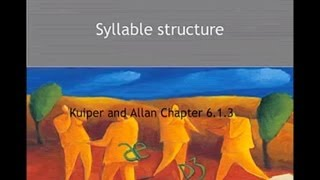 Kuiper and Allan - An Introduction to English Language 3e - Sounds - Syllable structure
