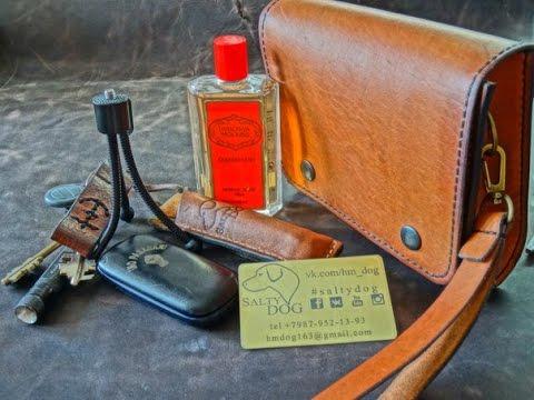 3fe7f8e8b8e4 Работа с кожей. Клатч. Making leather pouch - YouTube