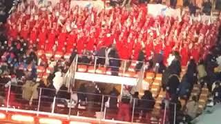 Болельщики из Северной Кореи на открытии Зимних игр 2018