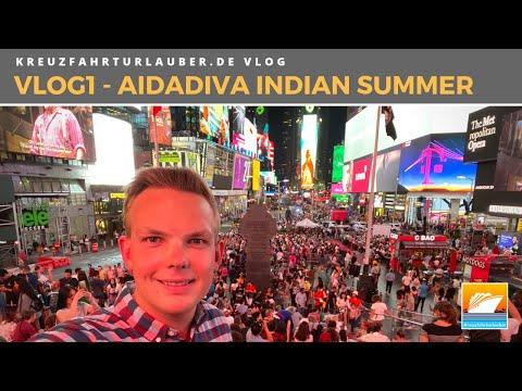 #VLOG1: Indian Summer Mit AIDAdiva - 2 Tage New York