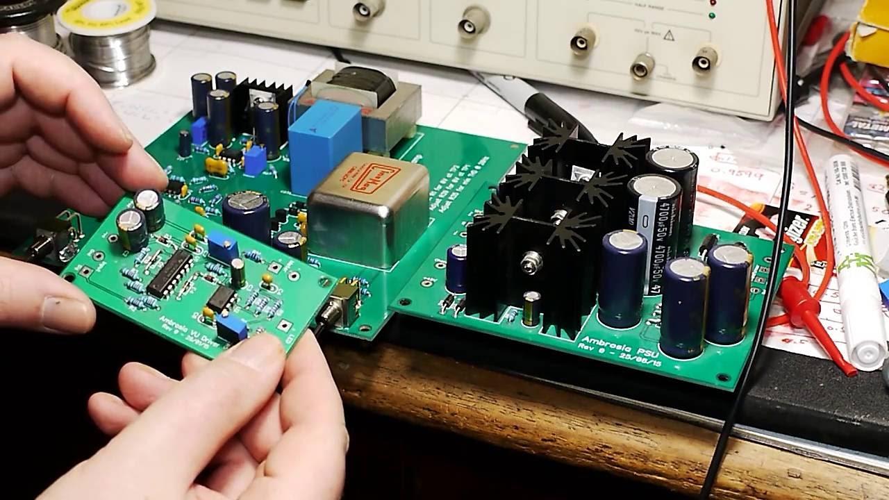 DIY microphone preamp project - VU meter driver
