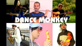 Who Is The Best: Dance Monkey Violin, Chicken, Cat Piano, Guitar, Flute