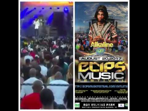 Alkaline live @ Ecips Music Festival on August 20th 2017 @ Roy Wilkins Park Queens New York,