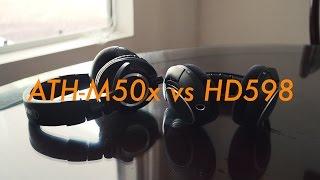 audio technica ath m50x vs sennheiser hd 598 comparison