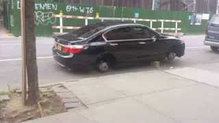 Tire Thief On The Loose In Williamsburg, Brooklyn