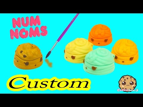 DIY Custom Painting Num Noms Lip Gloss Toy - Do It Yourself Craft Cookieswirlc Video
