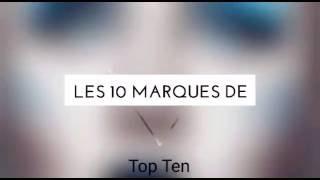 LES 10 MARQUES DE MAQUILLAGE LES PLUS UTILISÉES !