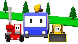 Sadzenie drzew Z Małymi Samochodzikami: buldożer, dźwig, koparka, bajka edukacyjna
