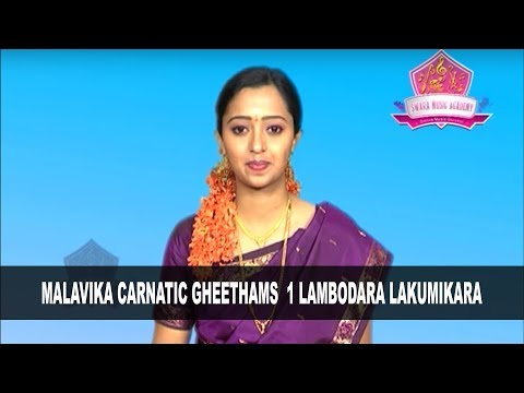 Malavika Carnatic Gheethams 1 Lambodara Lakumikara  Training By: Swara Music Academy Hyderabad-USA