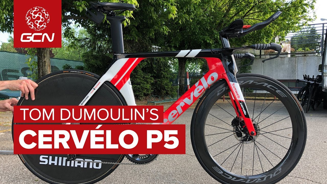 Tom Dumoulin S New Cervelo P5 Time Trial Bike Youtube