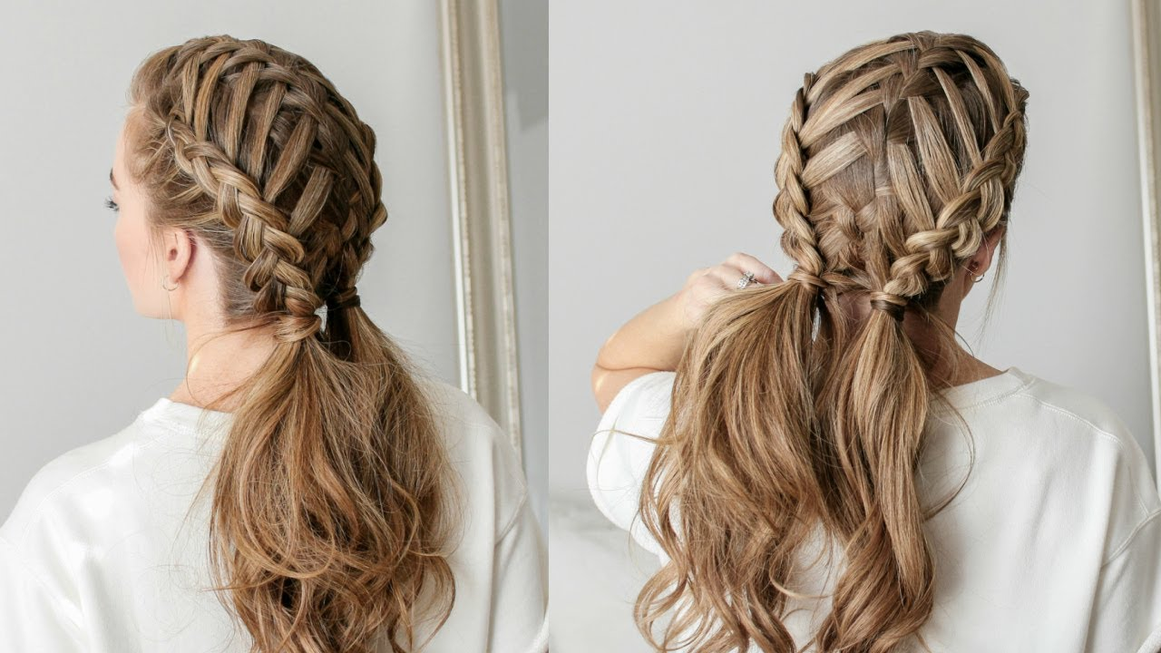 how to create a waterfall braid for beginners - easy braided