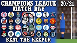 Beat The Keeper Champions League 2020 21 Group Stages Matchday 3