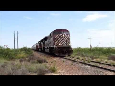 TNMR SD90MAC's on Wobbly Railroad Track in New Mexico