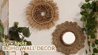 Diy Room Decor #8 - Boho Wall Decor + Mirror Hacks Pinterest Inspired  Diy On A Budget