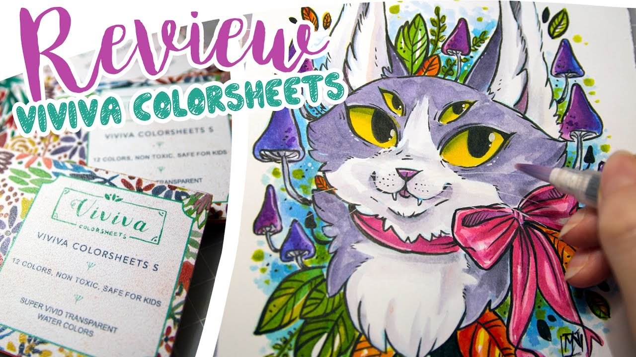trying out viviva colorsheets review youtube - Colorsheets